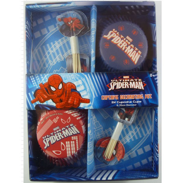 SPIDERMAN ULTIMATE CUP CAKE DECORATING KIT