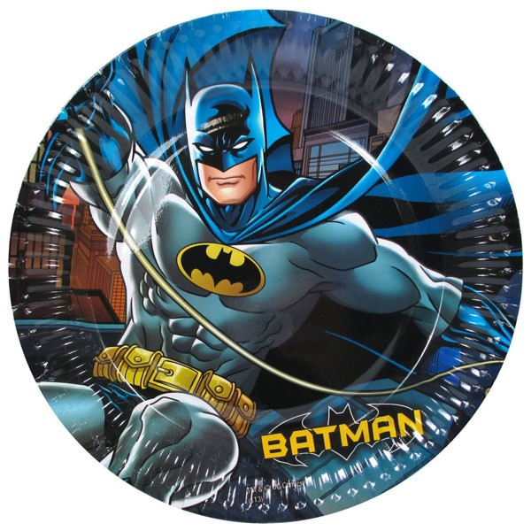 BATMAN PARTY PLATES - PACK OF 8