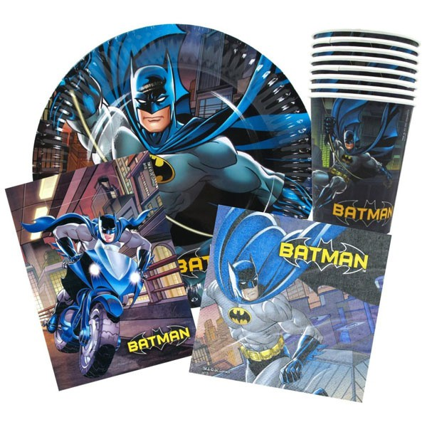 BATMAN PARTY PACK OF 40- <b> NEW DESIGN NOW AVAILABLE