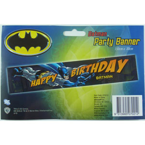 BATMAN HAPPY BIRTHDAY BANNER