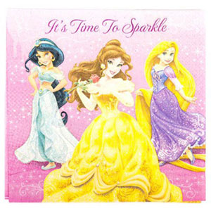 DISNEY PRINCESS NAPKINS PACK OF 16