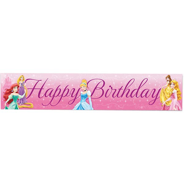DISNEY PRINCESS SPARKLE BANNER