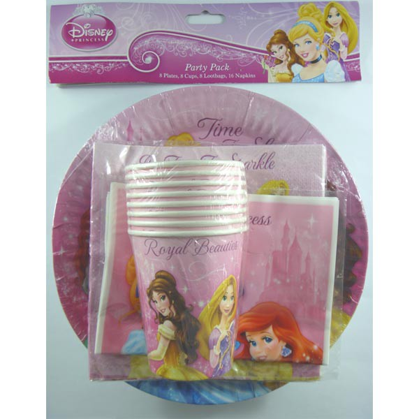 DISNEY PRINCESS SPARKLE PARTY PACK OF 40
