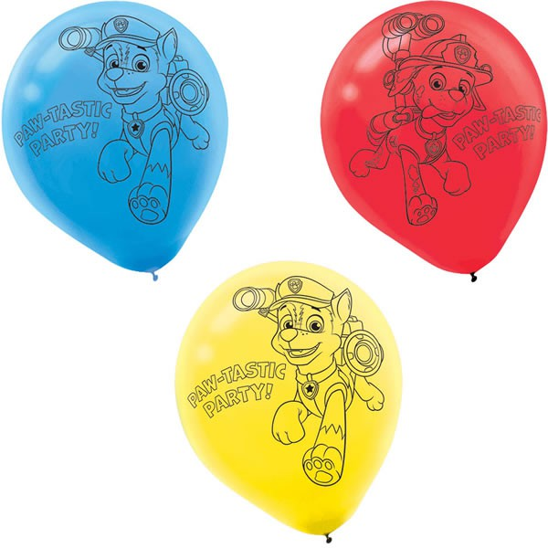 LATEX BALLOONS - PAW PATROL PACK OF 6