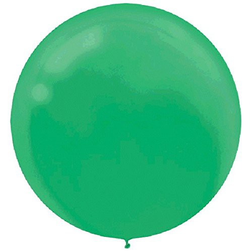 "BALLOONS LATEX - 24""/60CM FESTIVE GREEN - PACK OF 4"