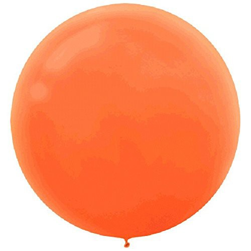 "BALLOONS LATEX - 24""/60CM ORANGE PEEL - PACK OF 4"