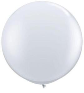 "BALLOONS LATEX - 24""/60CM WHITE - PACK OF 4"
