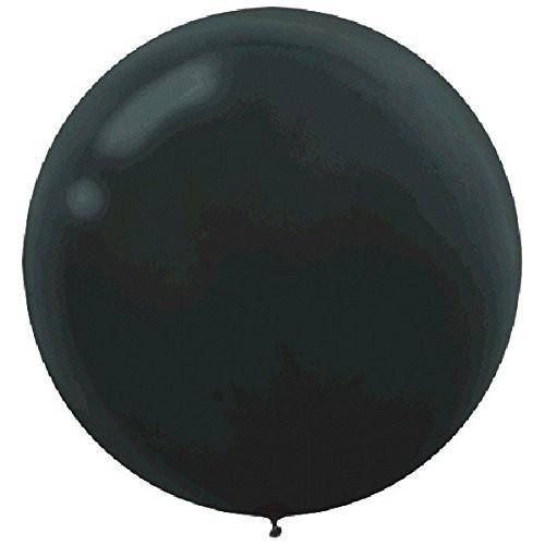 "BALLOONS LATEX - 24""/60CM BLACK - PACK OF 4"