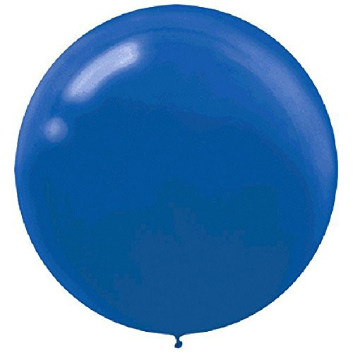 "BALLOONS LATEX - 24""/60CM BRIGHT ROYAL BLUE - PACK OF 4"