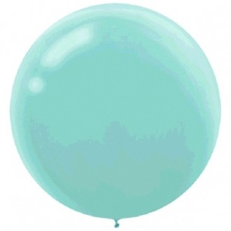 "BALLOONS LATEX - 24""/60CM ROBIN'S EGG BLUE - PACK OF 4"