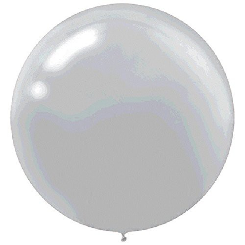 "BALLOONS LATEX - 24""/60CM METALLIC SILVER - PACK OF 4"