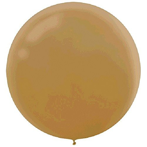 "BALLOONS LATEX - 24""/60CM METALLIC GOLD - PACK OF 4"
