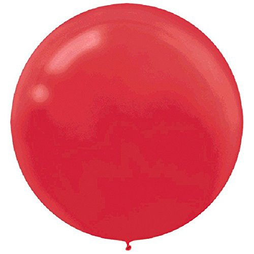 "BALLOONS LATEX - 24""/60CM APPLE RED - PACK OF 4"