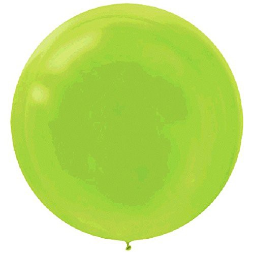 "BALLOONS LATEX - 24""/60CM KIWI LIME GREEN - PACK OF 4"