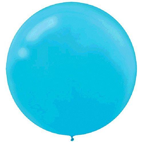 "BALLOONS LATEX - 24""/60CM CARIBBEAN BLUE - PACK OF 4"