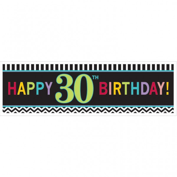 GIANT BANNER - CHEVRON DESIGN 30TH BIRTHDAY