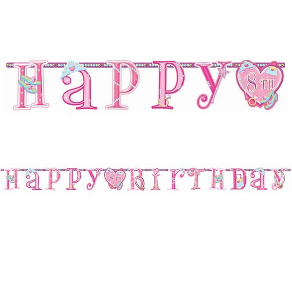 ADD AN AGE 'HAPPY BIRTHDAY' PENNANT BANNER