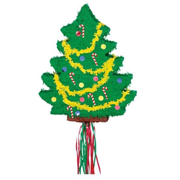 PINATA - DECORATED CHRISTMAS TREE - PULL TYPE