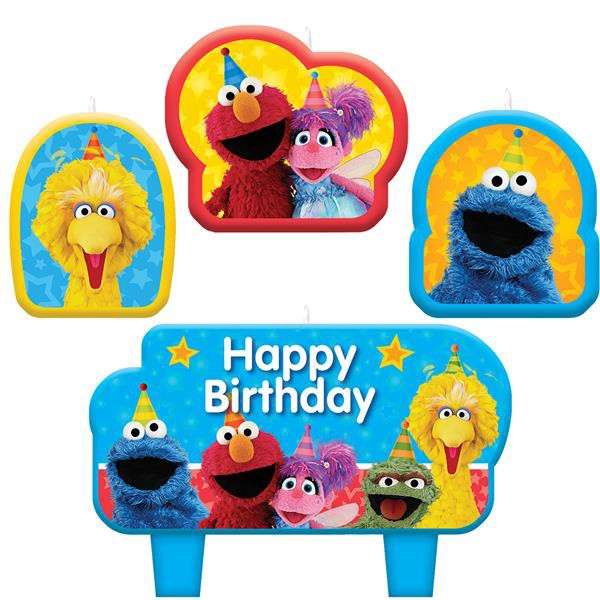SESAME STREET PARTY CANDLE SET OF 4