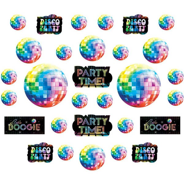DISCO FEVER MEGA VALUE ASSORTED CUT OUTS - PACK OF 30