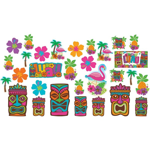 SCENE SETTER - TIKI CUT OUTS MEGA PACK OF 30