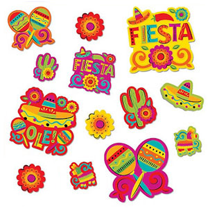 MEXICAN FIESTA CUTOUTS VALUE PACK OF 30