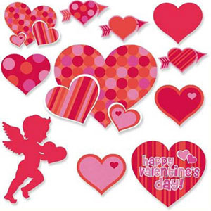 VALENTINES DAY CUT OUTS VALUE PACK OF 36