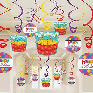 HAPPY BIRTHDAY SWIRLS MEGA PACK OF 30 PIECES