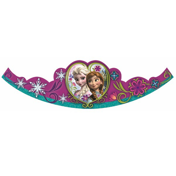 DISNEY FROZEN GLITTER TIARA - PACK OF 8