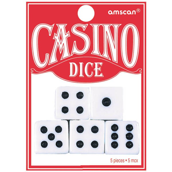 CASINO DICE - PACK OF 5
