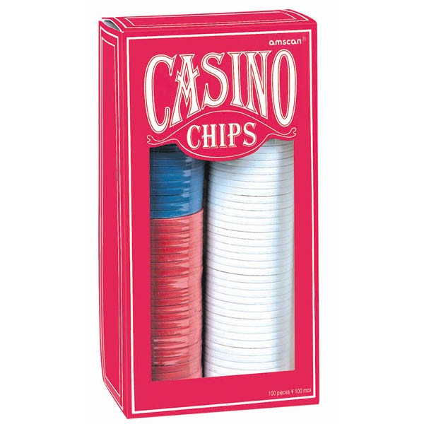 CASINO POKER CHIPS - 150 BULK PACK