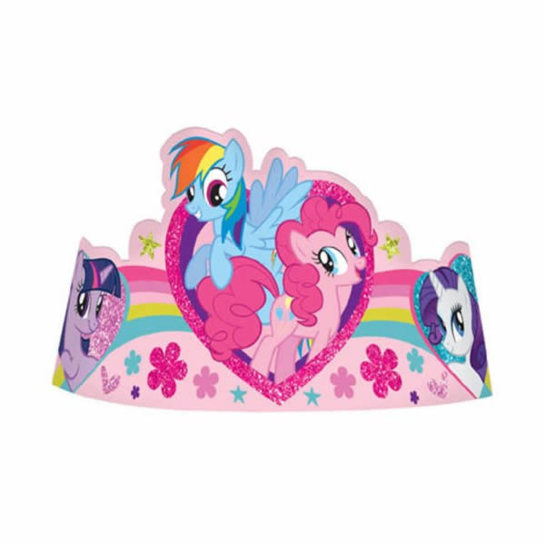 MY LITTLE PONY GLITTER TIARAS - PACK OF 8