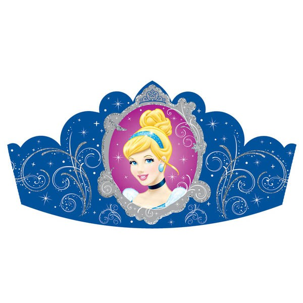 DISNEY PRINCESS CINDERELLA TIARAS PACK OF 8