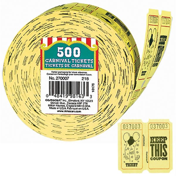 CARNIVAL TICKETS - ROLL OF 500