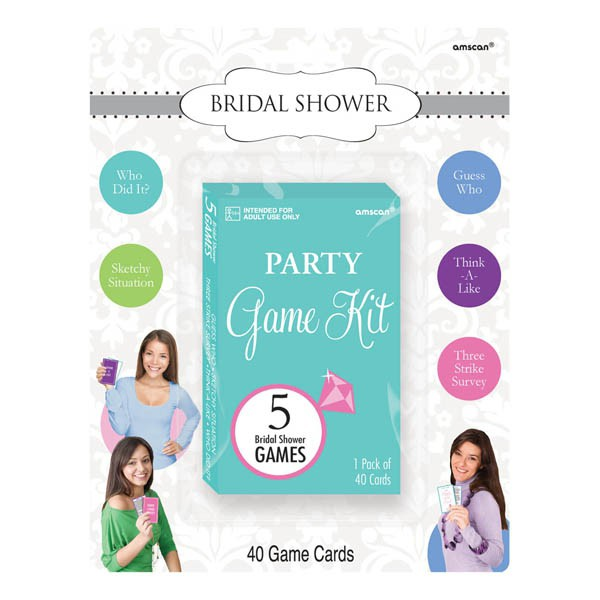 BRIDAL SHOWER PARTY GAMES KIT