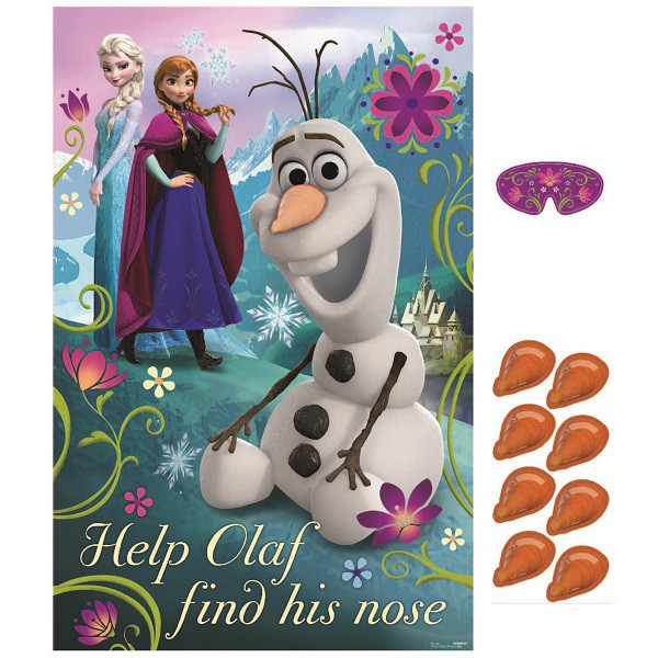 DISNEY FROZEN PARTY GAME - PIN THE NOSE ON OLAF