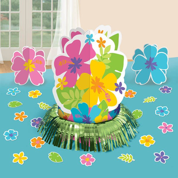 HIBISCUS FLOWERS TABLE DECORATING KIT