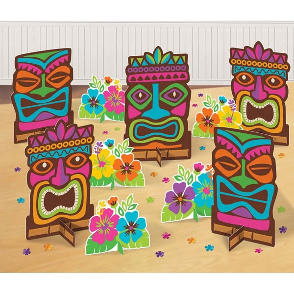 TIKI TABLE DECORATING KIT