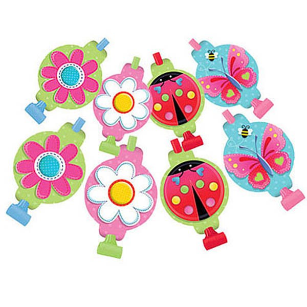 BUTTERFLY GARDEN GIRL BLOWOUTS - PACK OF 8