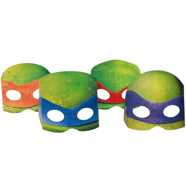 TEENAGE MUTANT NINJA TURTLE PARTY MASKS - PACK OF 8