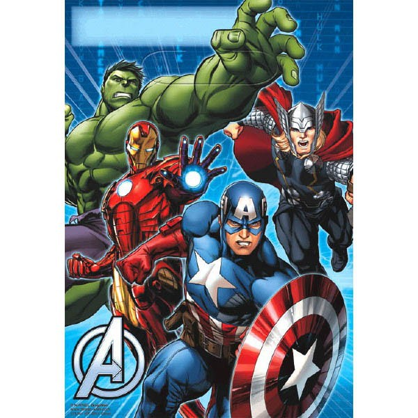 AVENGERS PARTY LOOT BAGS - PACK OF 8