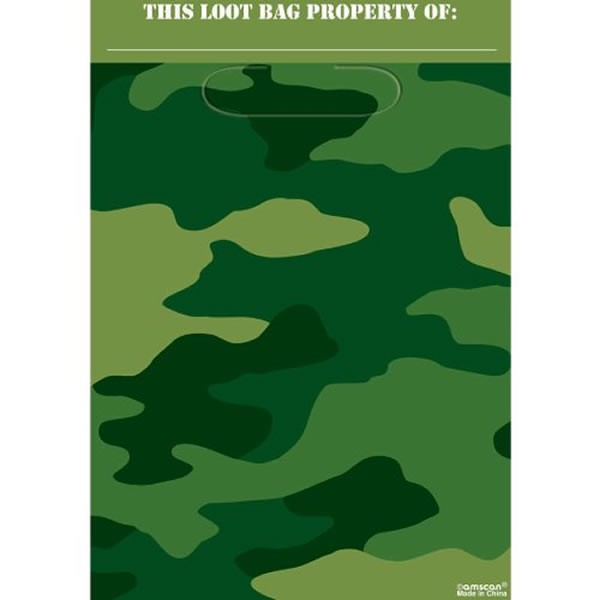 CAMO GEAR LOOT BAGS PACK OF 8