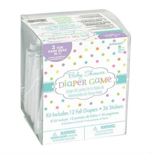 BABY SHOWER DIAPER/NAPPY GAME FOR 12
