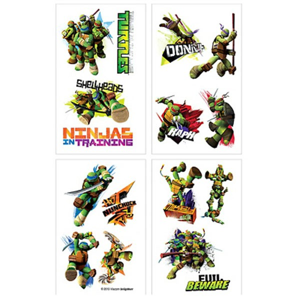 TEENAGE MUTANT NINJA TURTLE TATTOOS PACK OF 16