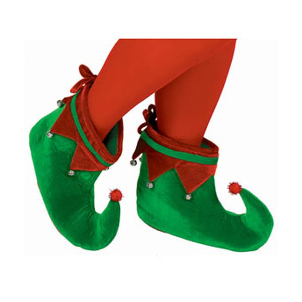 CHRISTMAS ELF SHOES WITH JINGLING BELLS
