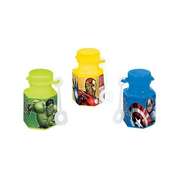 AVENGERS MINI BUBBLE PARTY FAVOURS - PACK OF 12