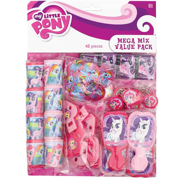 MY LITTLE PONY PARTY FAVOUR MEGA MIX PACK