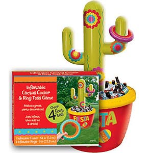 INFLATABLE GIANT CACTUS DRINK COOLER & GAME