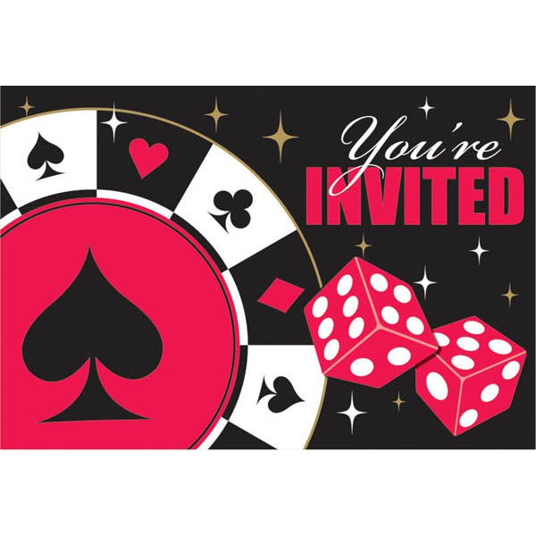 card night party invitations