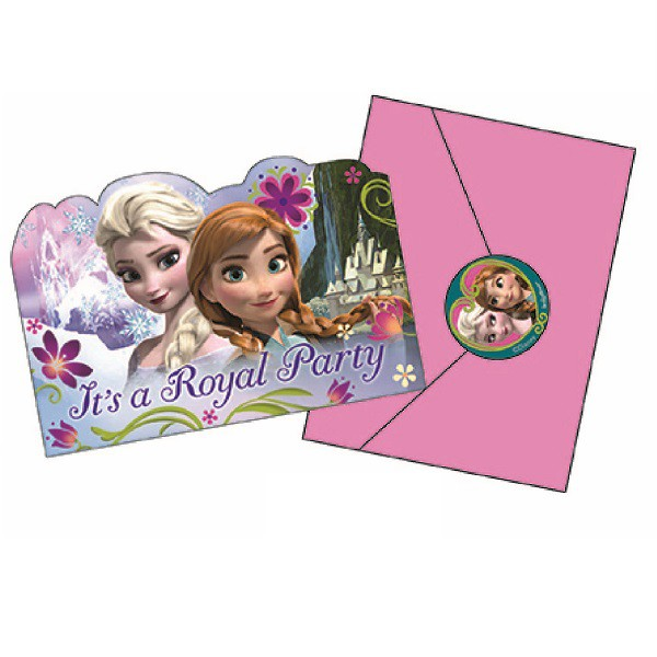 DISNEY FROZEN INVITATIONS PACK OF 8